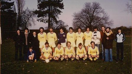 Herts Ad Sunday League side Chiswell seen around the 1978-1979 season. Back row - Bruno O'Gorman, J
