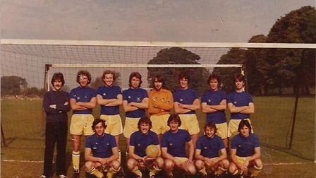 Herts Ad Sunday League side Chiswell seen around the 1978-1979 season. Back row - Keith Joiner, Gra