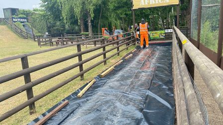 Shepreth Wildlife Park's paths being prepared for reopening. Picture: Rebecca Willers