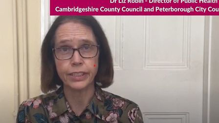 Dr Liz Robin, director of public health for Cambridgeshire and Peterborough
