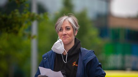 St Albans MP Daisy Cooper at the Black Lives Matter protest in St Albans. Picture by Monir Ali.
