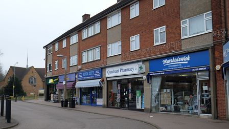 The Quadrant shops, Marshalswick. Picture: Danny Loo