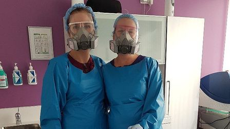 Buckden Dental staff are prepared to see patients.