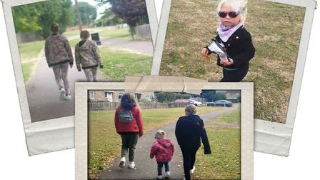 Lily, Daisy and Rose Bell are walking five miles every day to raise money for Dreamdrops.