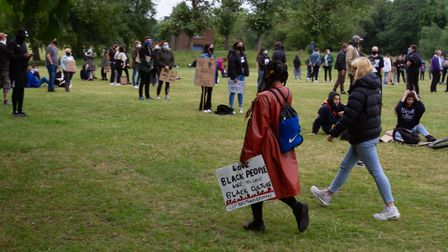 The Black Lives Matter protest in St Albans. Picture by Monir Ali