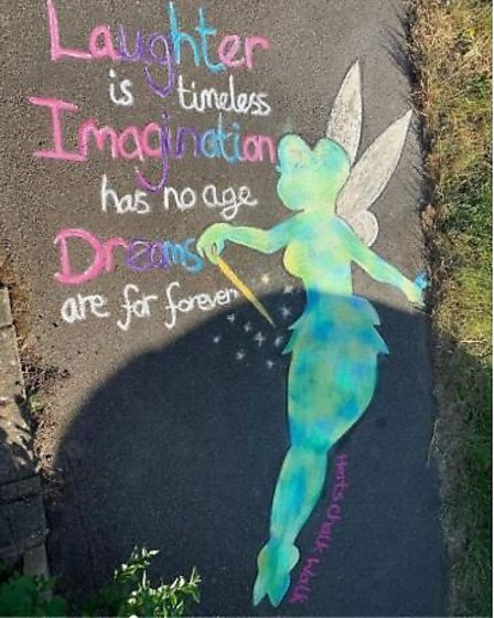Herts Chalk Walk in St Albans has raised £800 for Mind in Mid Herts. Picture: Herts Chalk Walk