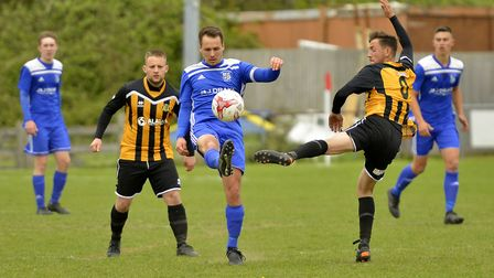 Godmanchester Rovers in action against Great Yarmouth. Picture: DUNCAN LAMONT