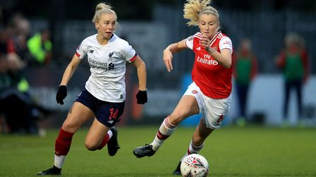 Arsenal's Leah Williamson joined in with the St Albans City Youth presentation event. Picture: ADAM