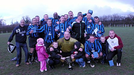 Peacock denied Cell Barnes the league and cup double in 2004 by winning the Junior Cup. Picture: BRI
