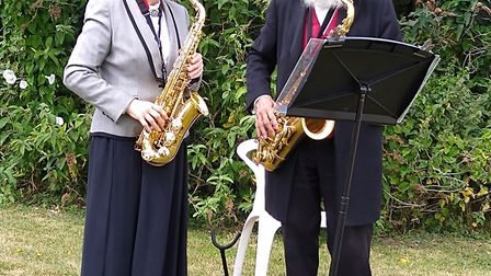 Melbourn's Bloomsday celebration musicians Adrian and Naomi Brind. Picture: Melbourn Bloomsday Celeb