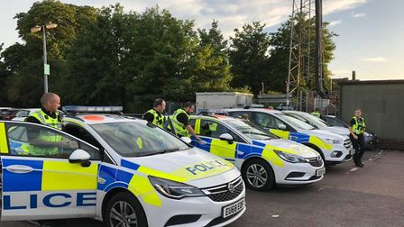 Police patrols discovered drugs and a knife in villages on the outskirts of St Neots at the weekend