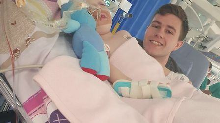 Daisy-Mae spent three weeks in an induced coma P