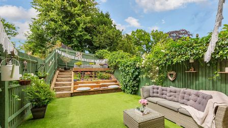 There is a private garden to the rear of the property. Picture: Cassidy & Tate