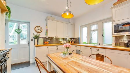 Features of the kitchen/diner include underfloor heating and a Franke boiling water tap. Picture: Ca