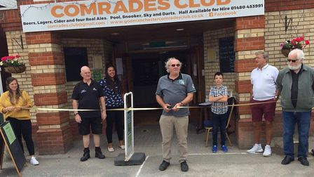 A ribbon cutting ceremony took place at the Comrades Club in Godmanchester on Saturday.