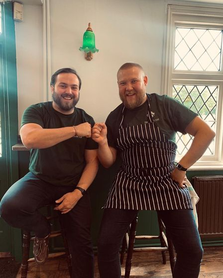 New owners of The Silver Cup in Harpenden Michael Singleton and Matt Reeder opened their doors for t
