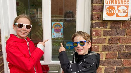 Lyla and Sam were two lucky winners of the St Albans Rainbow Trails Hope the Hippo competition. Pict