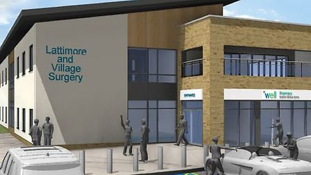 CGI image of the planned new building for Lattimore and Village Surgery, located next to the Caledon