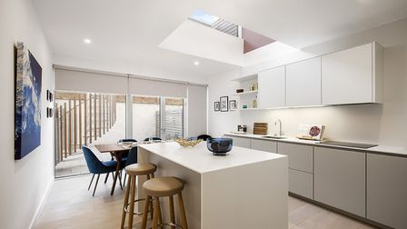 The kitchen/diner at the John Lewis show home at Gabriel Square. Picture: Meyer Homes