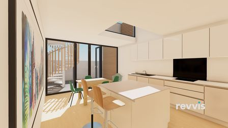 A possible new look for the show home's kitchen/diner. Picture: Meyer Homes