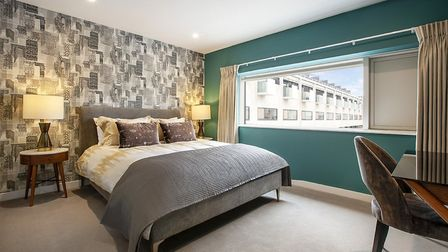 One of the bedrooms at the John Lewis show home at Gabriel Square. Picture: Meyer Homes