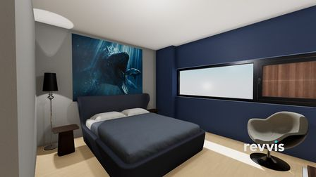 How the bedroom could look following a redesign. Picture: Meyer Homes