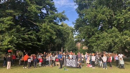 More than 75 people joined Harpenden campaigner Gina Korchak on her final daily walk in support of t