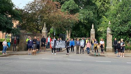Gina Korchak invited anyone who wished to join her on Black Lives Matter walks in Rothampstead Park