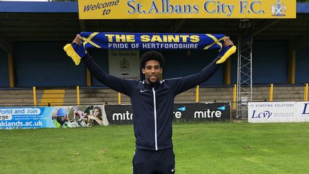 St Albans City have signed striker Shaun Jeffers from Chelmsford City.Picture: ST ALBANS CITY