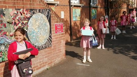 St Hilda's pupils in Harpenden returned to school this week. Picture: Supplied