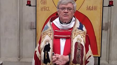 The Very Revd Dr Jeffrey John, Dean of St Albans, spoke at the virtual pilgrimage. Picture: St Alban