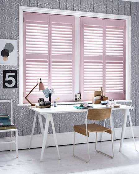 3. Shutter shock: Pink Shutters from a selection, California Shutters. Other items, stylist's own. P