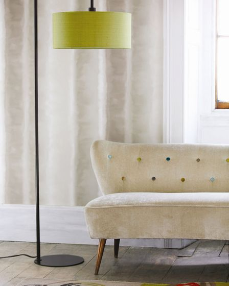 4. So shady: Hadfield Floor Lamp with Lime Green Shade, Christopher Wray Lighting. Other items, styl