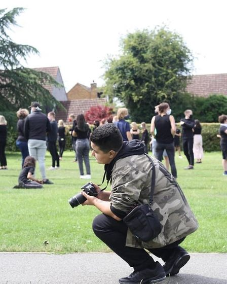Around 60 people turned up for the Wheathampstead Black Lives Matter living art piece at Marford Pla