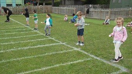Prae Wood Primary School held a sports week which included children at home and at school. Picture: