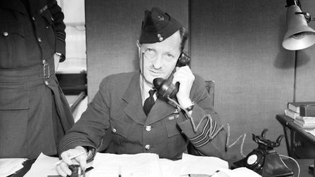 Wing Commander Alfred B 'Woody' Woodhall, RAF Duxford's station commander and fighter controller, Se