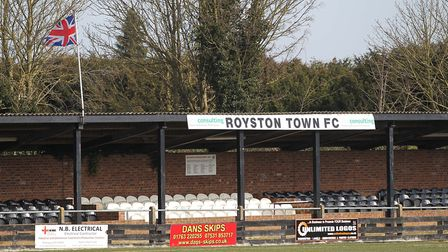 The main stand at Royston Town FC