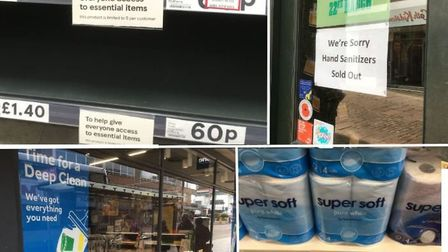 Panic buying meant supermarket shelves were stripped of basic items.