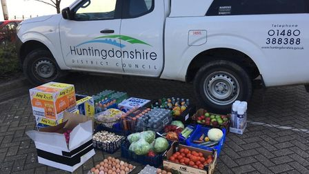HDC delivered food to vulnerable people in the community.