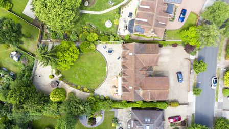 A drone's eye view of the property. Picture: Daniels Estate Agents