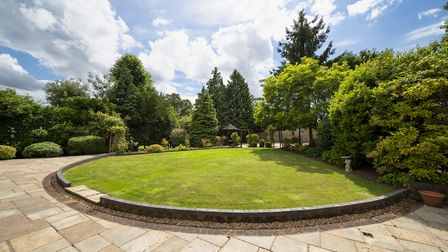 The west-facing rear garden measures in excess of 100ft. Picture: Daniels Estate Agents