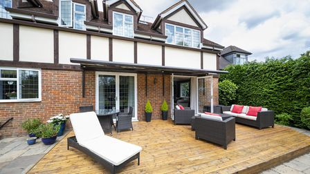 There is a spacious decking area immediately to the rear. Picture: Daniels Estate Agents