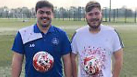St Albans City Youth's football development managers Charlie Boswell and Anthony Gosling.