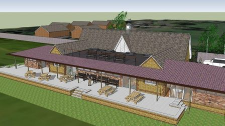 An artist's impression of what the new pavilion in Ramsey will look like.