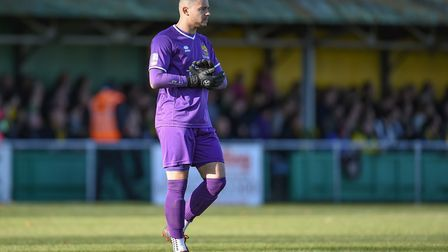 Former Hitchin Town goalkeeper Michael Johnson has joined St Albans City. Picture: MARTYN HAWORTH