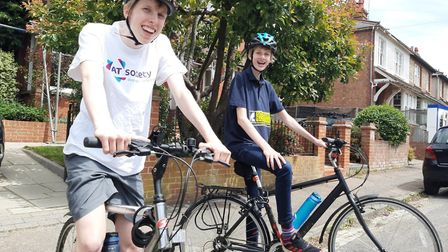 Harpenden brothers are completing a cycle ride for charity. Picture: Supplied