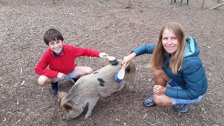 Group organiser Helen Furse and her son Benji. Picture: Courtesy of Helen Furse