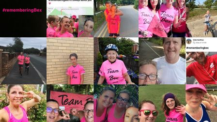 More than 100 runners turned the streets of Huntingdonshire pink as part of Team Bex to raise money