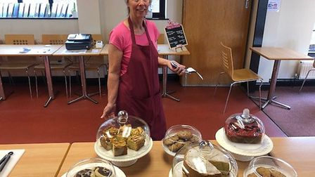 Staff at The Cross Street Cafe volunteer their time to give something back to the community. Picture