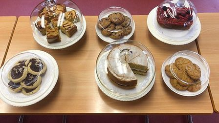 Cakes at The Cross Street Cafe. Picture: Laura Bill